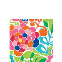 Poppin Flowers Beverage Napkins 16ct