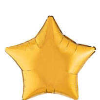 Foil Gold Star Balloon 19in