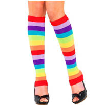 Adult Rainbow Stripe Leg Warmers
