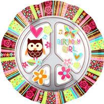 Happy Birthday Balloon - Giant Hippie Chick