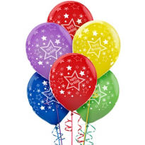 Star Birthday Balloons 20ct - Primary