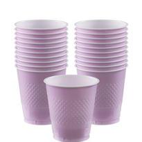 Lavender Plastic Cups 20ct
