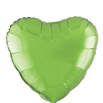 Foil Kiwi Heart Balloon 18in