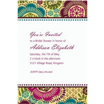Fashion Floral Custom Invitation