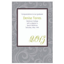 Gray Floating Border Custom Graduation Announcement