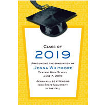 Custom Yellow Congrats Grad Announcements