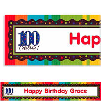 A Year to Celebrate 100 Custom Banner 6ft