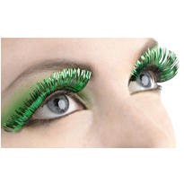 Green & Silver False Eyelashes