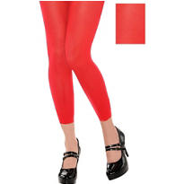 Adult Red Footless Leggings