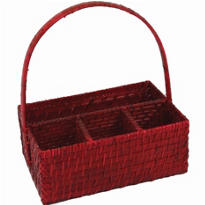 Red Bamboo Utensil Caddy