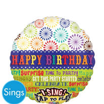 Party Started Sing A Tune Balloon 18in