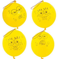 Latex SpongeBob Punch Balloons 4ct