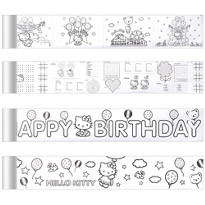 Hello Kitty Mini Coloring Banners 4ct