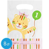 Sweet At One Girls 1st Birthday Favor Bags 8ct