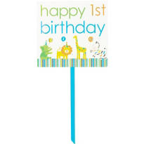 Sweet At One Boys 1st Birthday Yard Sign 28in x 15in