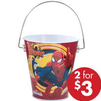 Spiderman Metal Pail