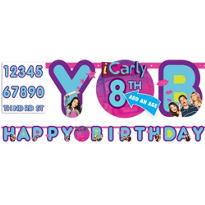 Add An Age iCarly Birthday Banner 10ft