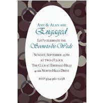 Sophisticated Dots Custom Invitation