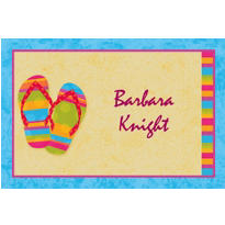 Flip Flops Custom Thank You Note