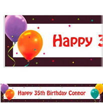 Custom Life is Great Birthday Banner 6ft