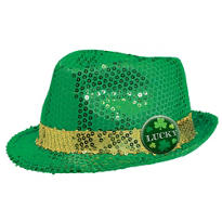 St. Patricks Day Sequin Fedora