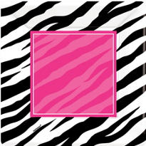 Zebra Party Lunch Plates 8ct
