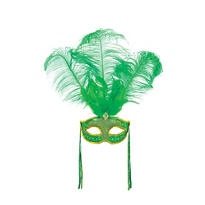St. Patricks Day Feather Mask