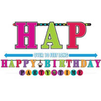 Party On Birthday Banners 2ct