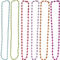 Party On Bead Necklaces 6ct
