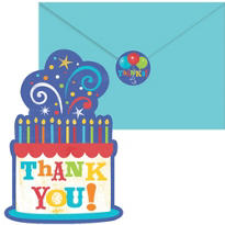Birthday Fever Thank You Notes 20ct