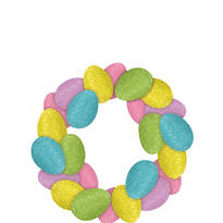 Glitter Easter Egg Wreath 14 1/2in