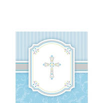 Blue Communion Blessings Beverage Napkins 16ct