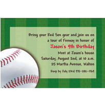 Baseball Fun Custom Invitation