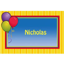 Balloons & Stripes Custom Thank You Note