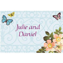 Butterfly Dreams Custom Wedding Thank You Note
