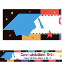Bright Grad Custom Graduation Banner 6ft