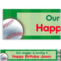 Baseball Fun Custom Banner 6ft