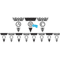 Damask & Polka Dot Personalize It Pennant Banner Kit 28pc