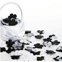 Black Flowers & Butterflies Fabric Confetti 300pc