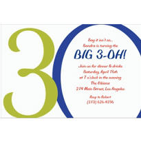 Great Big 30th Custom Invitation