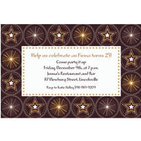 Glitter Starz Custom Invitation