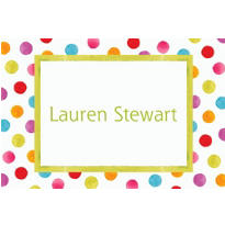 Watercolor Dots Custom Thank You Note