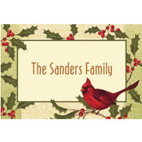 Holiday Tidings Custom Christmas Thank You Note