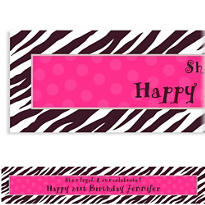 Custom Zebra Party Banner 6ft
