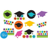 Colorful Commencement Cutouts 12ct