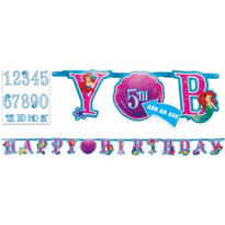 Add an Age Little Mermaid Letter Banner 10 1/2ft