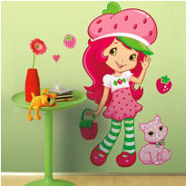 Strawberry Shortcake Wall Decals 38in