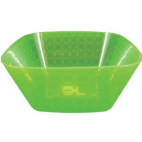 Large Square Green Bowl