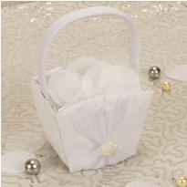 Vintage Glamour Wedding Flower Girl Basket