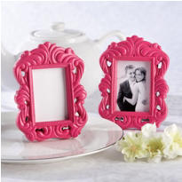 Pink Baroque Frame Wedding Favor